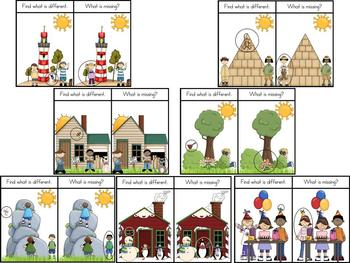 Visual Discrimination Book-Identifying Differences in Pictures