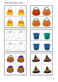 Visual Discrimination Cards -- Halloween Theme