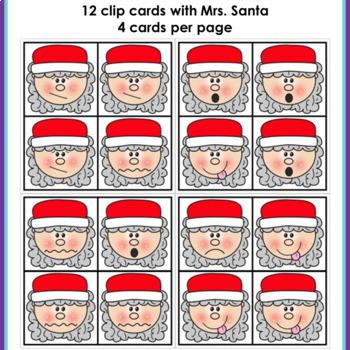 Visual Discrimination Clip Cards • December