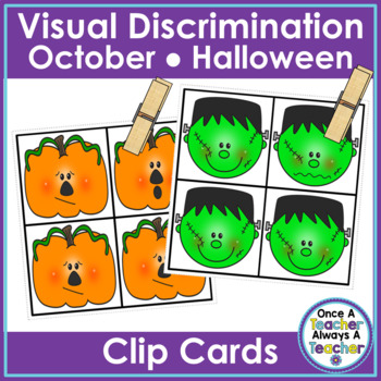 Visual Discrimination Clip Cards • October
