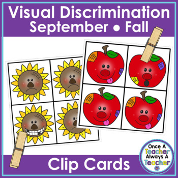 Visual Discrimination Clip Cards • September