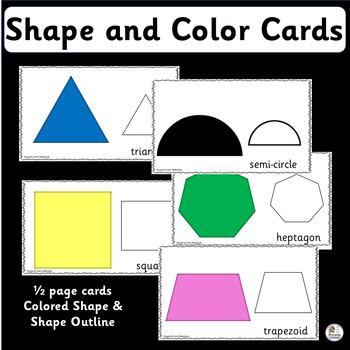 Color & Shape Cards for Preschool & Kindergarten (SASSOON)