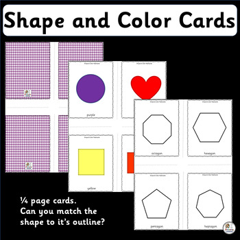 Vocabulary: Color & Shape Cards from circle to heptagon & decagon (SASSOON)