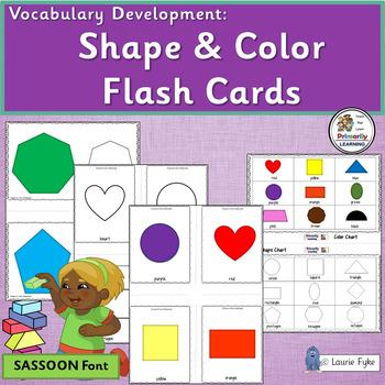 Vocabulary: Color & Shape Cards for Preschool & Kindergart