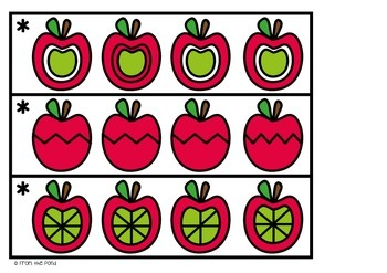 Visual Discrimination Game Cards - Apple Line