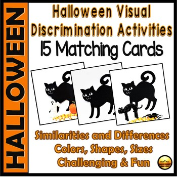 Visual Discrimination Halloween Activities Set One