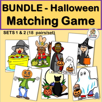 Visual Discrimination Match-up BUNDLE for Halloween  (Sets 1 & 2)