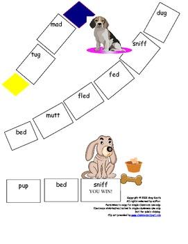 Visual Discrimination Intervention Bad Dog Game (Gr. K-2, 13 pgs.)