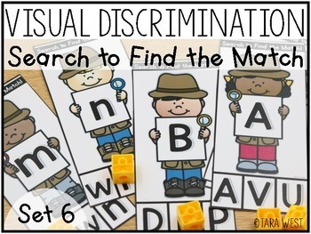 Visual Discrimination Letter Clip Cards