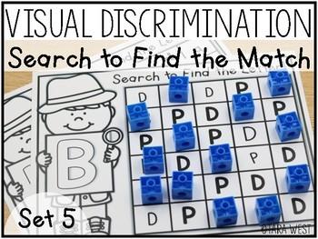 Visual Discrimination Letter Mats