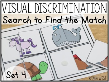 Visual Discrimination Match the Other Half Mats