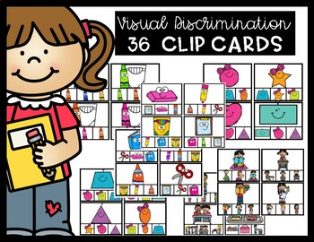 Visual Discrimination Matching Clip Cards