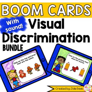 Visual Discrimination Matching Digital Boom Cards Bundle Distance Learning