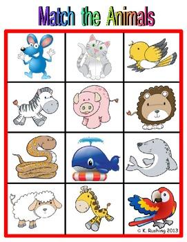 Visual Discrimination & Oral Language - Picture Match