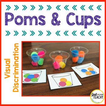 Visual Discrimination - Poms and Cups