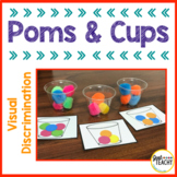 Visual Discrimination Poms and Cups