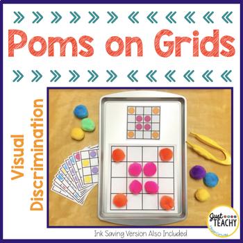 Visual Discrimination - Poms on Grids