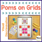 Visual Discrimination Poms on Grids