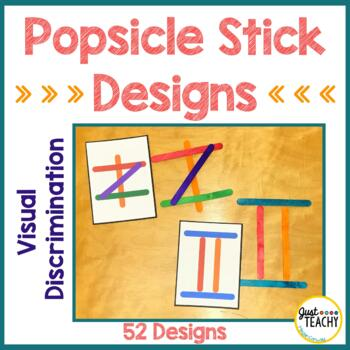 Visual Discrimination - Popsicle Stick Designs