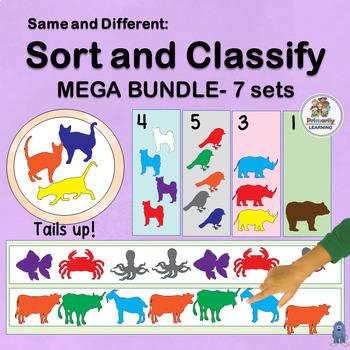 Same and Different: Sort and Classify MEGA BUNDLE for Preschool & Kindergarten!