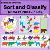 Same and Different Shapes MEGA BUNDLE 7 Sets