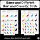 Same and Different: Sort and Classify Birds in Preschool &