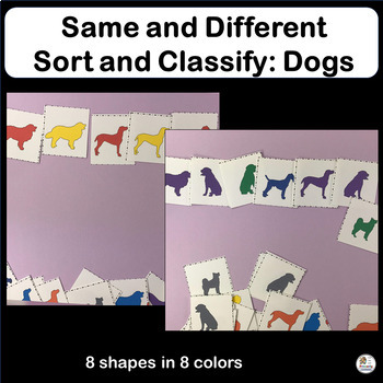 FREE! Same and Different: Sort and Classify Dogs in Preschool & Kindergarten!