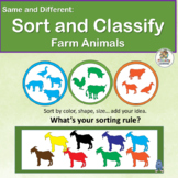 Same and Different: Sort & Classify Farm Animals in Preschool and Kindergarten!