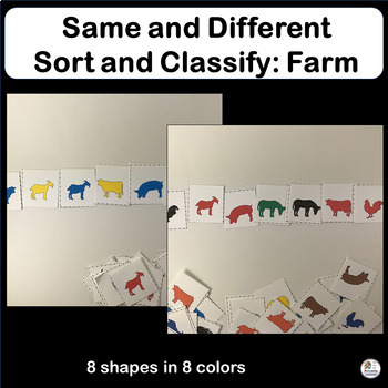 Same and Different: Sort & Classify Farm Animals