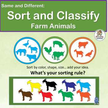 Same and Different: Sort & Classify Farm Animals in Presch