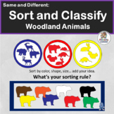 Same and Different: Sort & Classify Woodland Animals in Preschool & Kindergarten