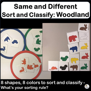 Same and Different: Sort and Classify WOODLAND ANIMALS