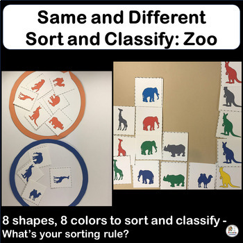 Same and Different: Sort and Classify Zoo Animals in Preschool & Kindergarten.
