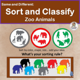 Same and Different: Sort and Classify Zoo Animals
