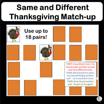 Same and Different THANKSGIVING