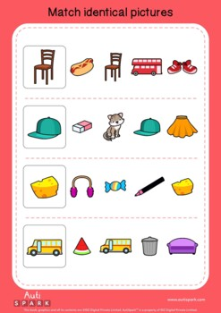 Free Matching Worksheets for Kids with Autism - Visual ...