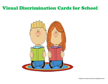 Visual Discrimination task cards for Back to School