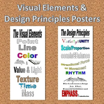 Visual Elements & Design Principles Posters