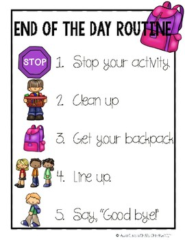 End of the Day Routine Poster (PBIS)