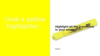 Visual Essay Revision with Highlighters