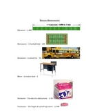 Visual Examples of the Metric System