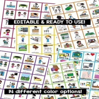 Visual Flip Schedule (Editable) for Special Education