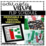 Editable Visual Flip Schedule for Autism or Special Education