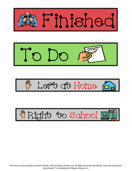 Visual Folder Labels - Great for an Autism Classroom!