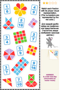 Visual Fractions Math Puzzle 2, Commercial Use Allowed