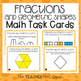 3rd Grade Fractions and Geometric Shapes Task Cards