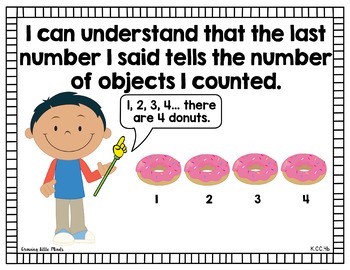 """Visual """"I Can"""" Statements for Kindergarten Math Common Core Standards- color"""