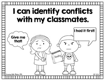"""Visual """"I Can"""" Statements for First Grade Social Studies- blackline"""