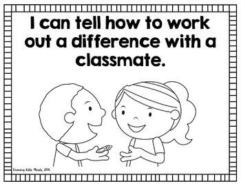 """Visual """"I Can"""" Statements for Kindergarten Social Studies standards- blackline"""