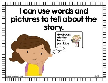 """Visual """"I Can"""" Statements for the ELA Common Core Standards- Color"""